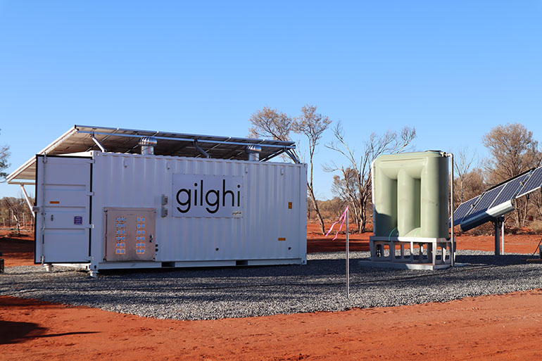 Gilghi on site at Gillen Bore Outstation